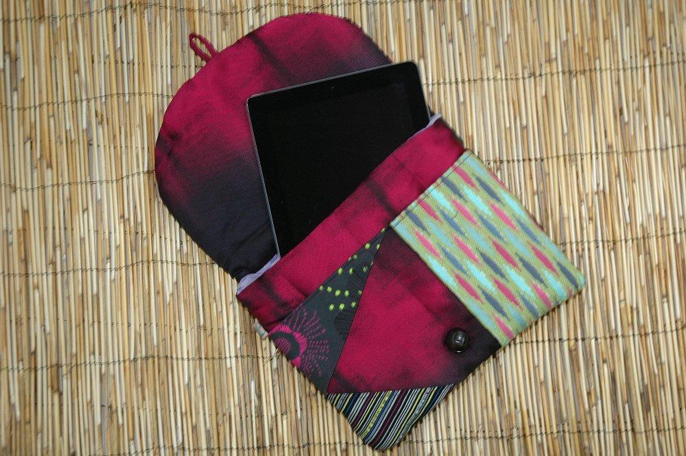 Housse Ipad /Tablette Tissus Matelassé Patchwork Collection Louis Réf 5051