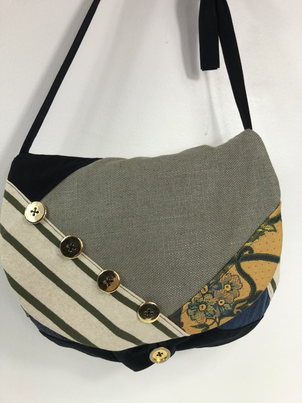 Sac Besace Tissus Patchwork Collection Lyna Réf 1586
