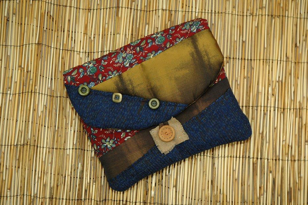Housse Ipad /Tablette Tissus Matelassé Patchwork Collection Louis Réf 5009