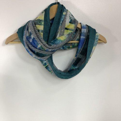 Echarpe tubulaire /snood tissus réversible réf 0474