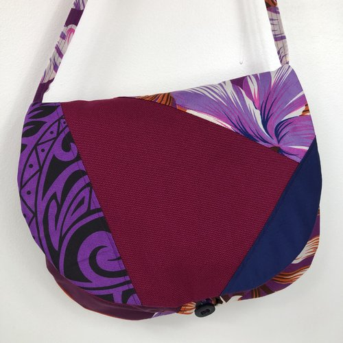 Sac besace tissus patchwork bandoulière collection lyna réf 0952