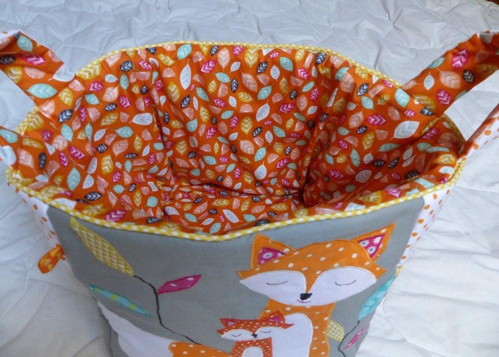 Bac de rangement sac à jouets renard