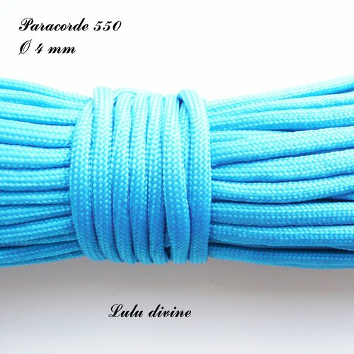 Cordon / paracorde 550 de 4 mm : bleu