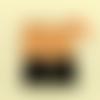 Trousse de maquillage en tissu orange