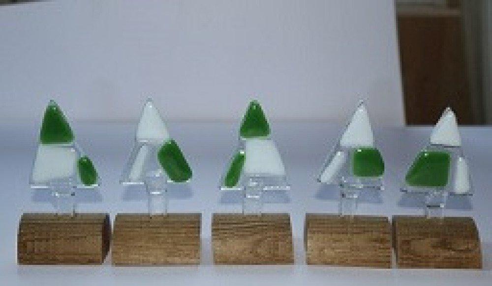 sapin stylisé en verre fusing