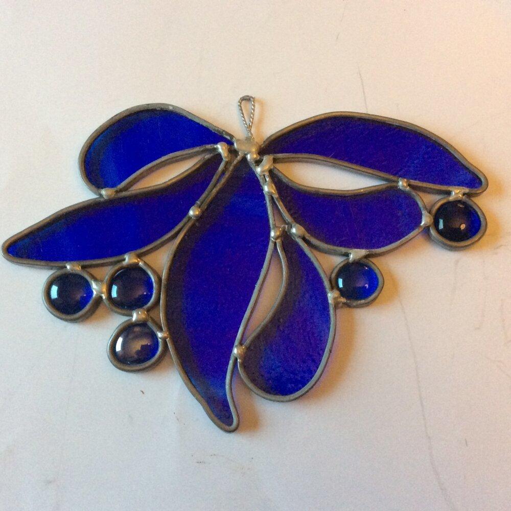 Attrape Lumière bleu vif en vitrail tiffany