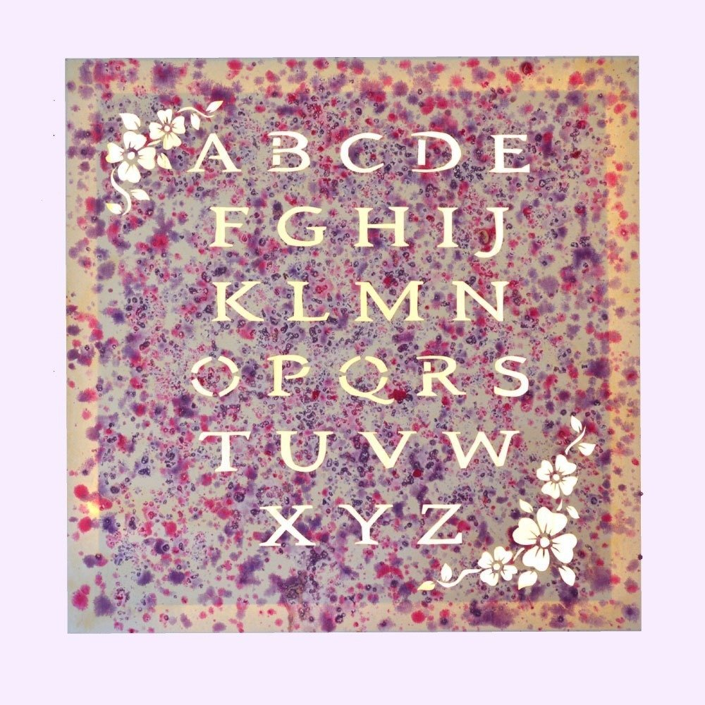 Tableau lumineux LED 'Alphabet rose'
