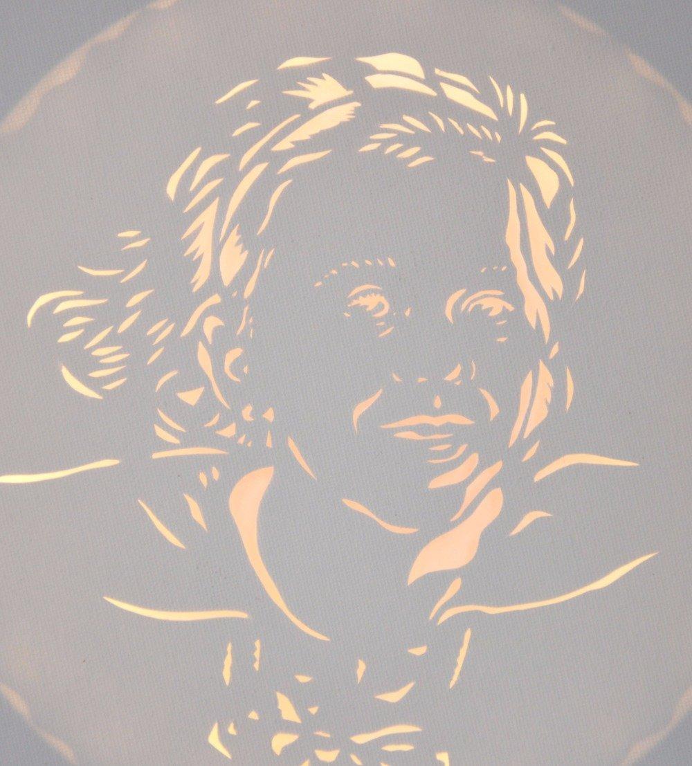 Tableau lumineux rond LED, 'Portrait d'après photo', décoration murale