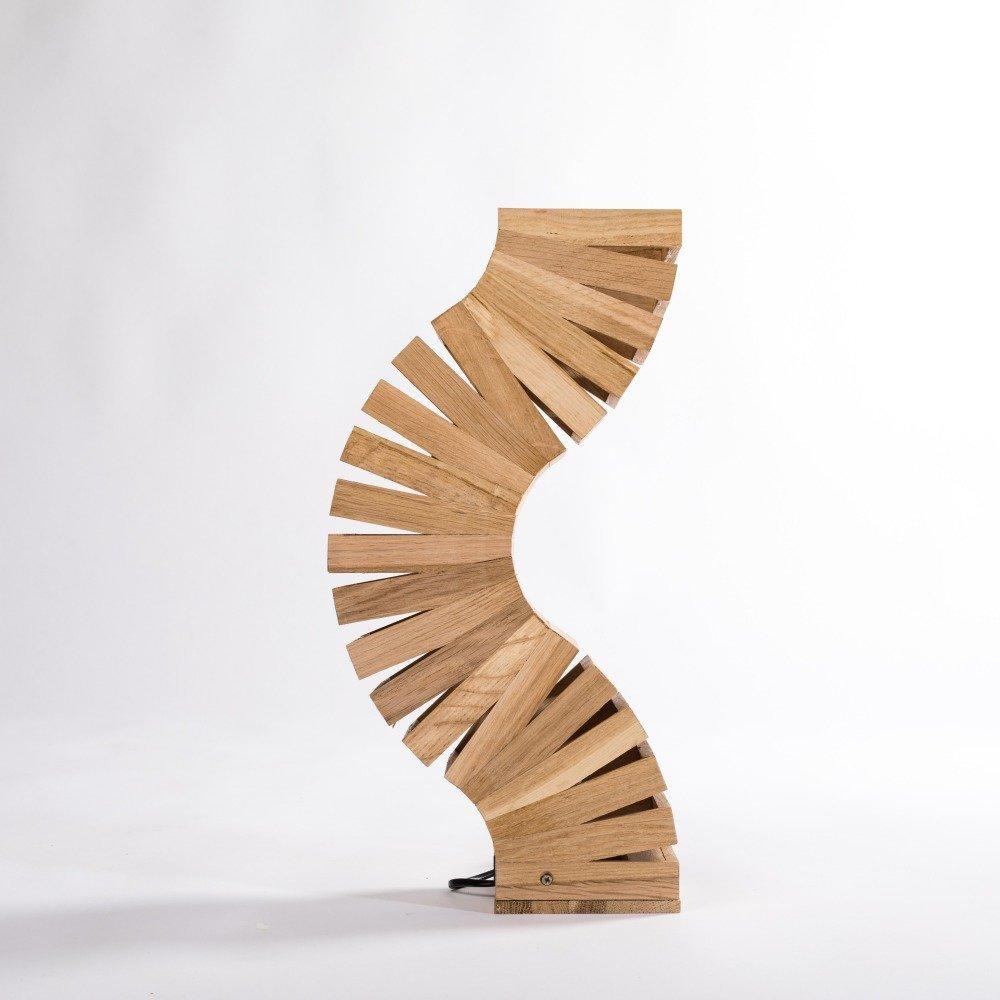 Lampe design en bois , Backbone