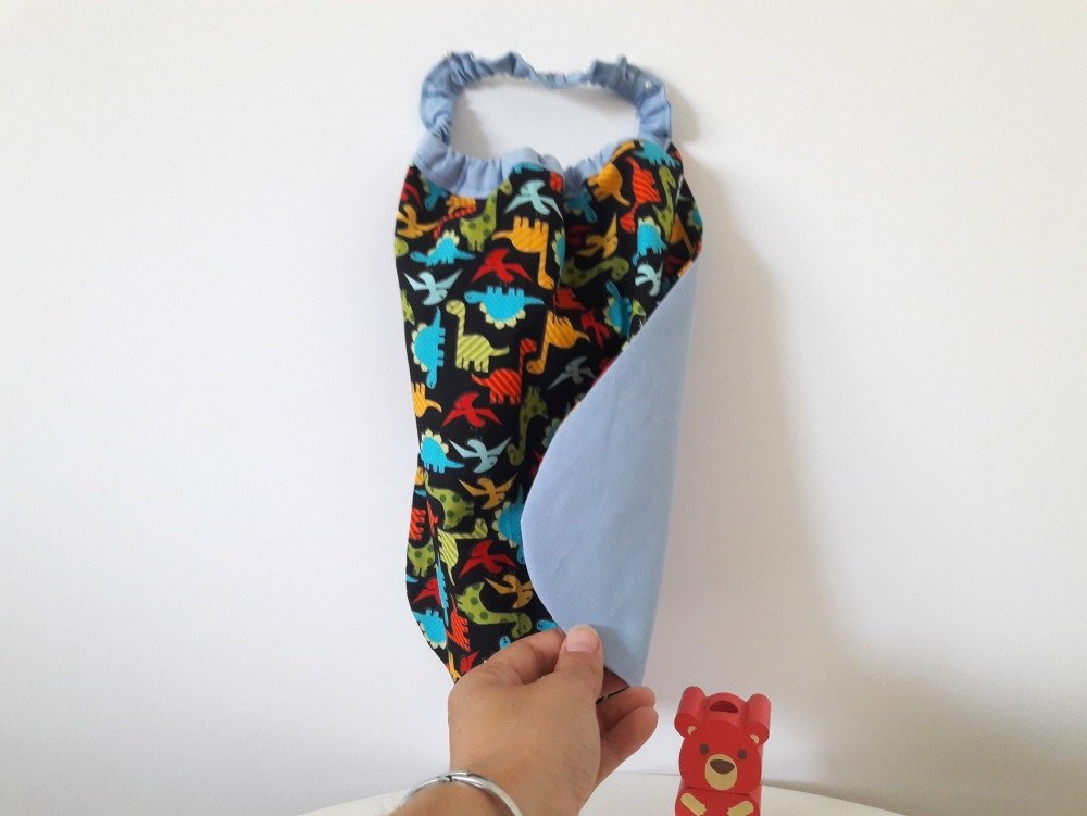 Serviette élastique dinosaures pour enfants, cantine