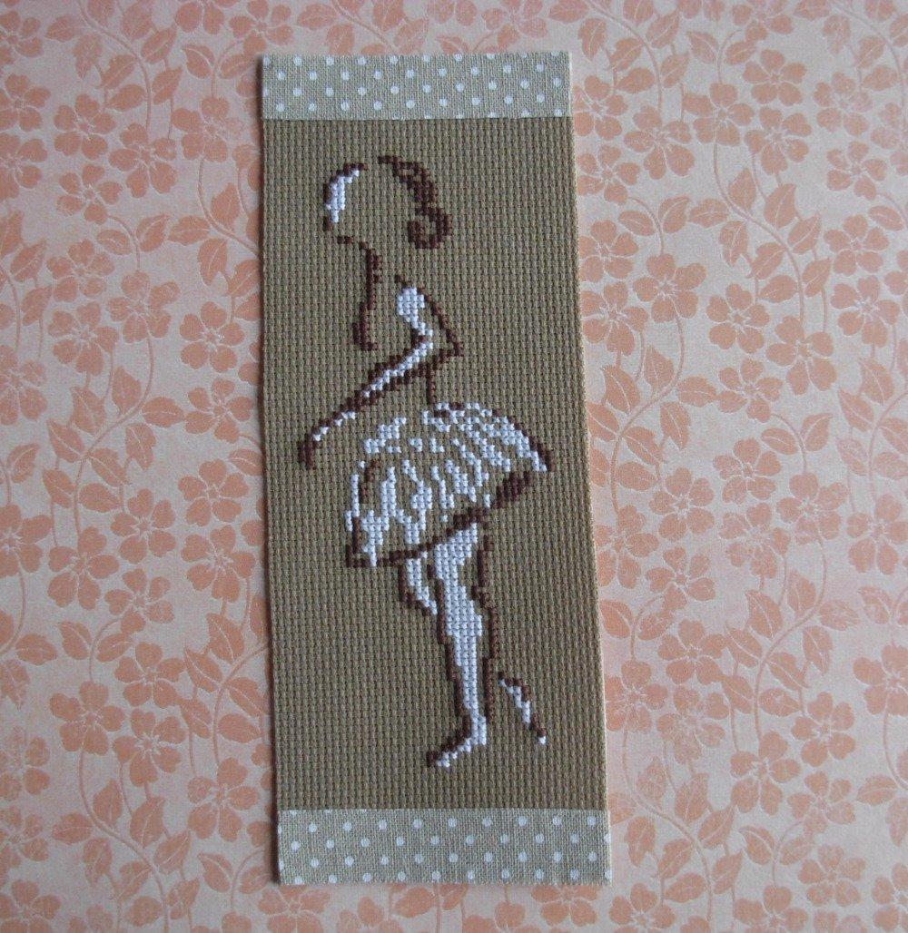 Marque page silhouette de danseuse