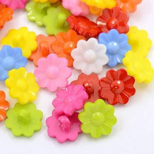 lot 20 boutons canard 14m multicolore couture mercerie scrapbooking neuf