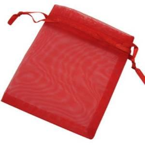 Lot de 10 sachets en papier brillant Rouge 14 x 22 x 5,5 cm rouge Lot de 10