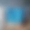 """Sac cabas en toile de jute naturelle """"imprimé bleu japonais """""""