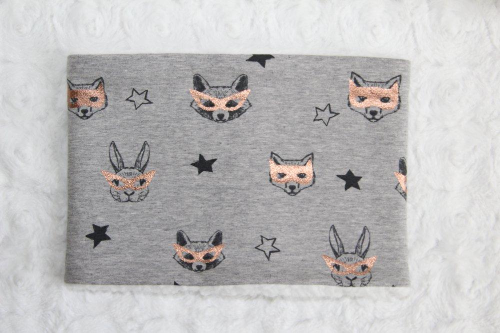Snood enfant-Tour de cou-Cache cou-Motifs chats,lapins...Taille 2 à 5 ans