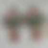 Boucles d'oreilles retro bouquet printanier