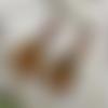 Boucles d'oreilles vintage fleur d'ange