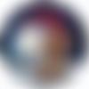 Planche de 24 stickers - étiquette autocollante ronde 4 cm / halloween chien