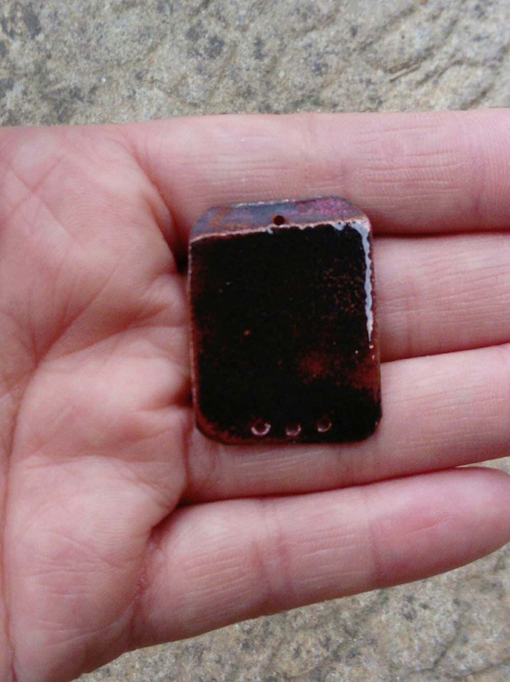 Connecteur pour collier en cuivre émaillé