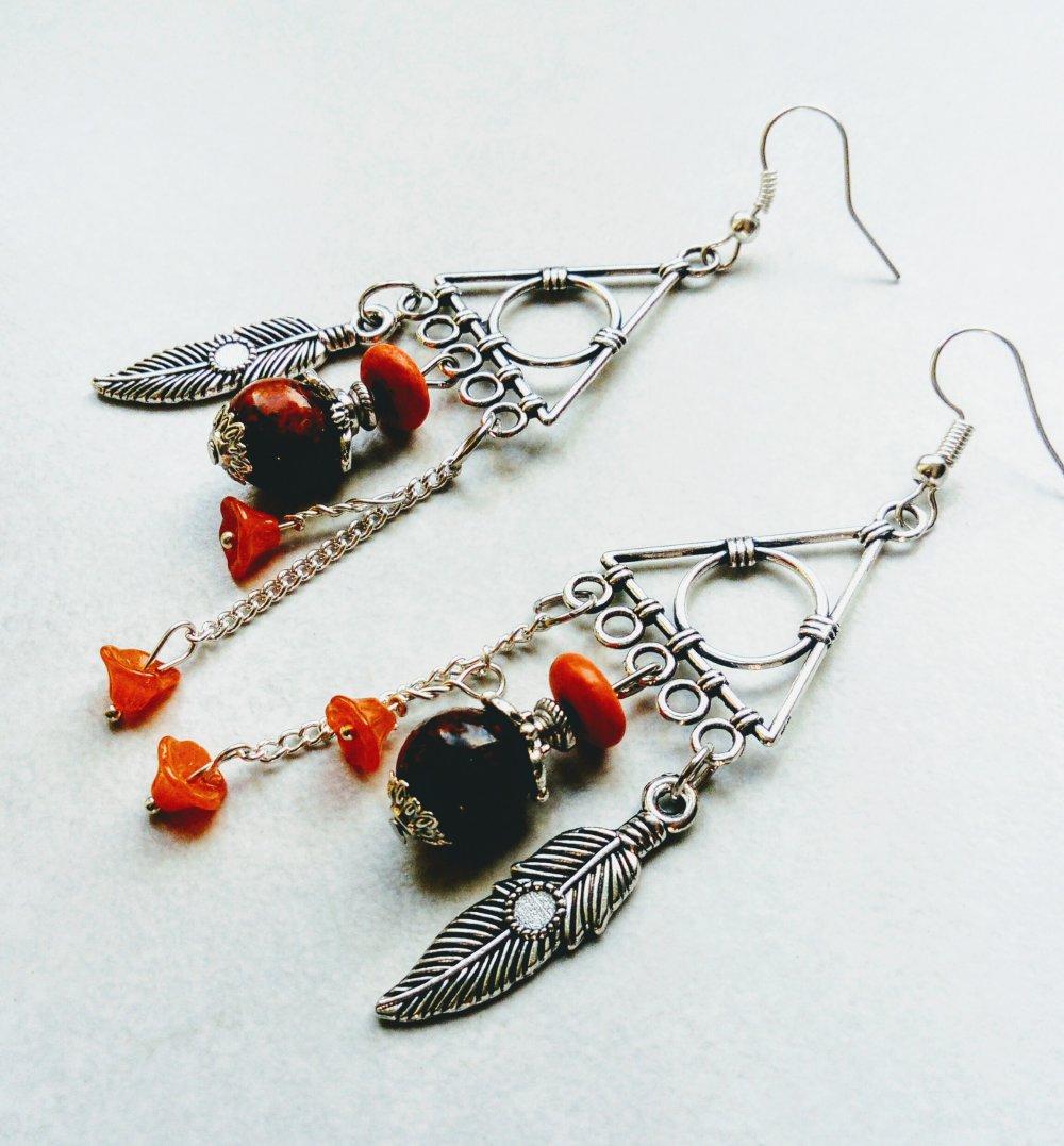 Boucles d'oreilles apaches