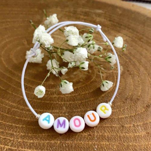 Bracelet personnalisable perles alphabets personnalisés
