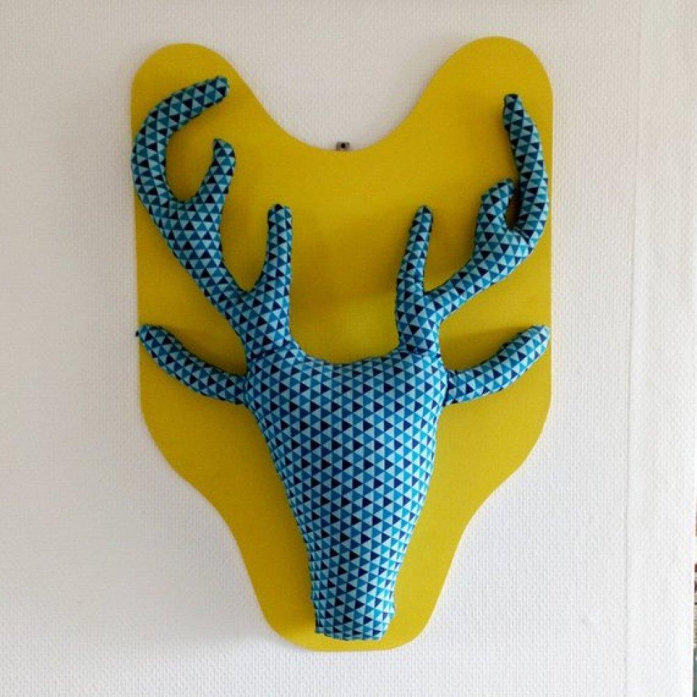 Trophée tête de renne/élan mural fait main idee cadeaux