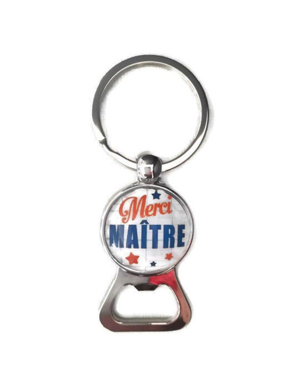 Porte clés décapsuleur Merci Maître