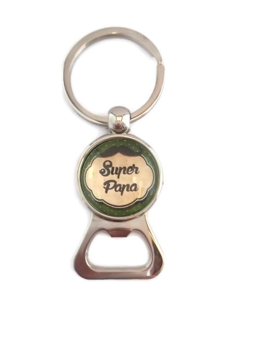 Porte clés décapsuleur Super Papa