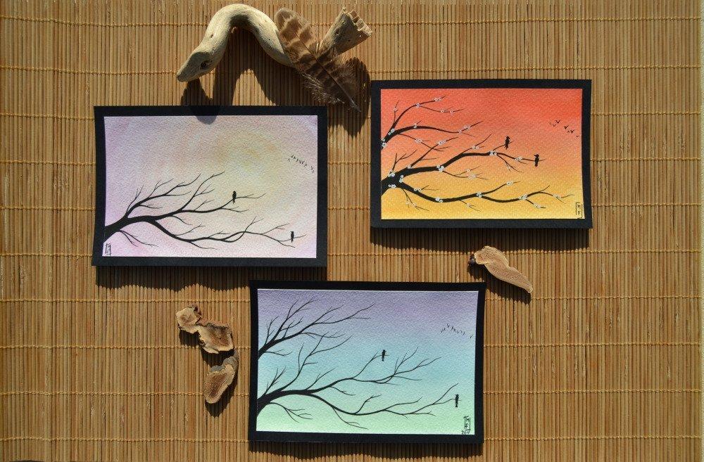 Aquarelles arbre des rencontres