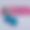 Boucles d'oreilles mini-macarons bleu menthe