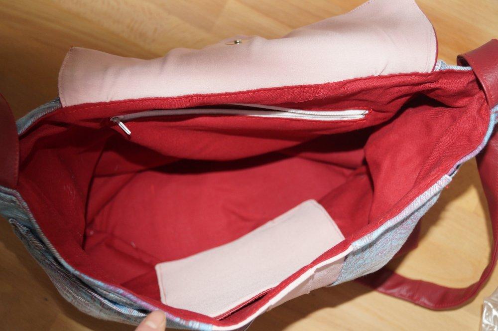 sac en jeans grand modèle