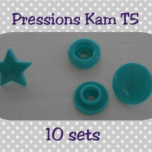 Lot de 10 sets pressions kam étoiles