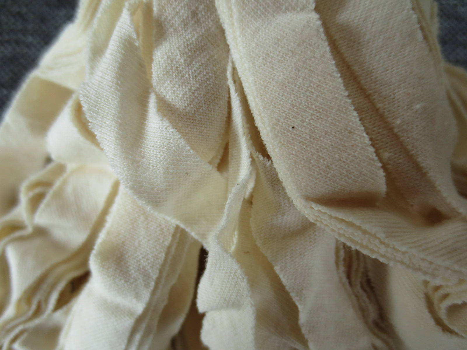 Echeveau de bande de jersey 100% coton coloris crème