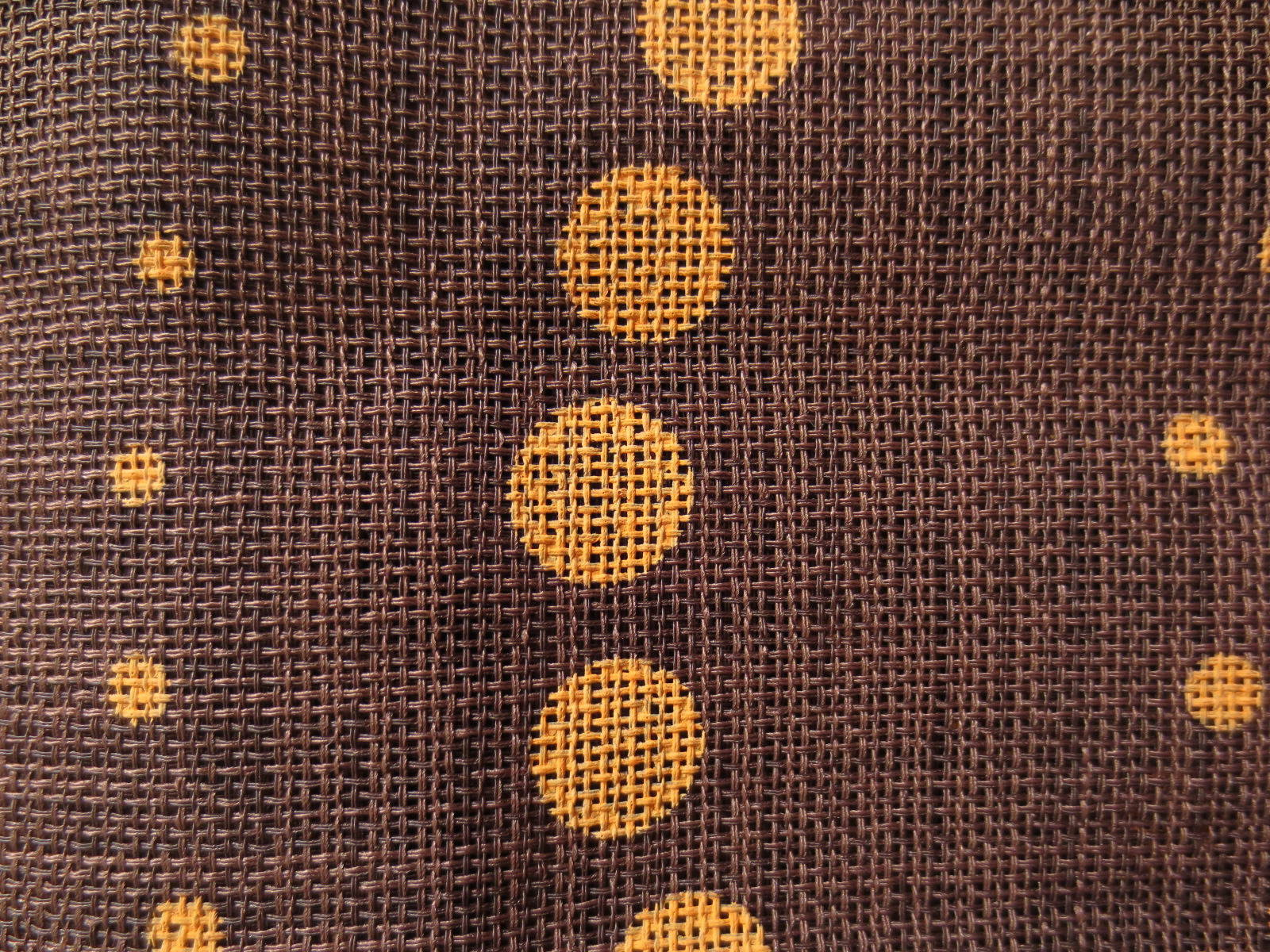 Tissu tarlatane motif oriental - 148 x 100 cm - marron et ocre
