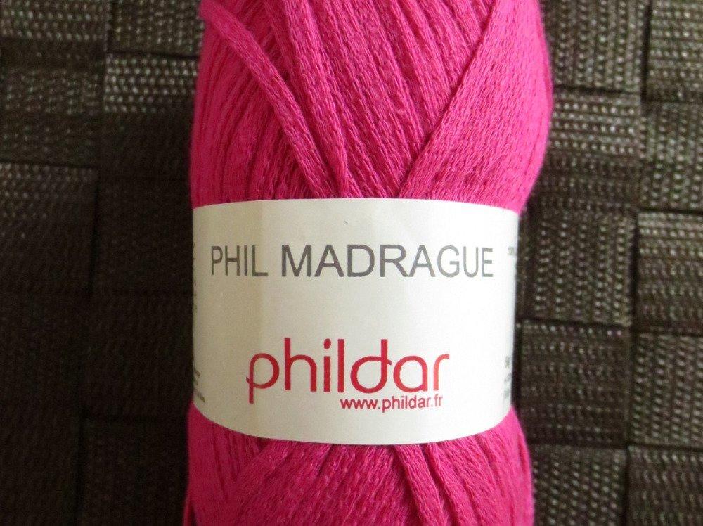 Pelote 50g laine Phildar Phil Madrague coloris Pensée #500120 0006 bain 106