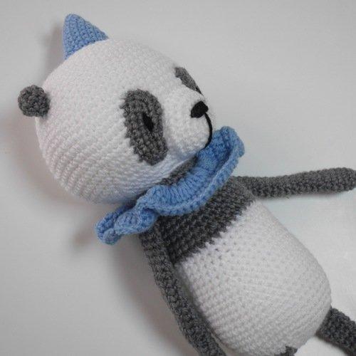 Panda Amigurumi (tutorial) - YouTube | 500x500
