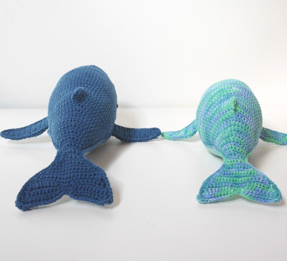 Baleine à bosse crochetée