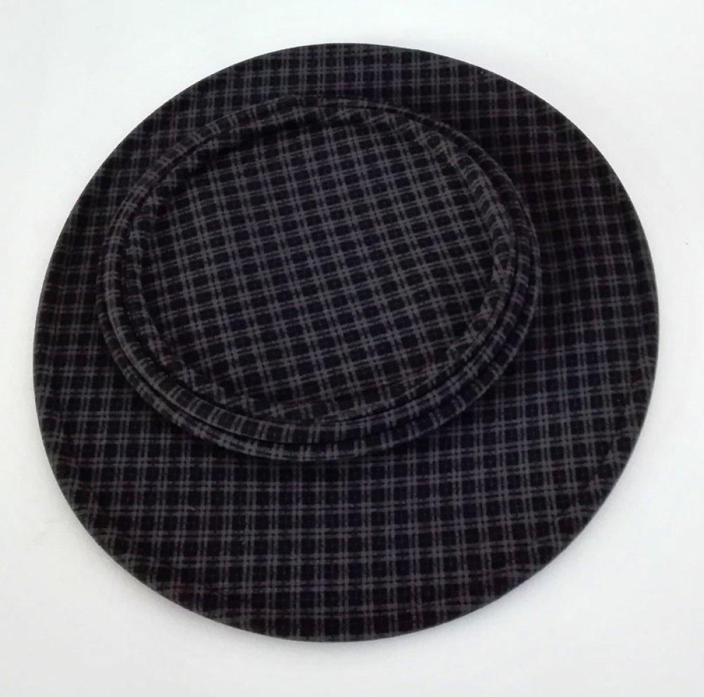 Chapeau capeline tissus noir, chapeau hiver pluie femme, cadeau femme