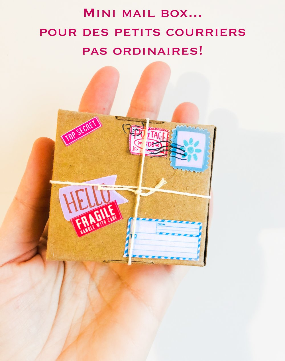 Mini boite cadeau, prête à l'emploi, Papier craft, Cadeau miniature