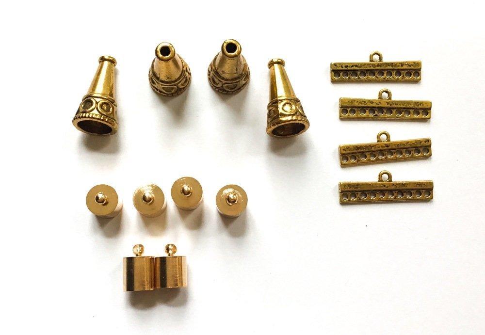 Lot d'apprêts dorées pour fabrication de bijoux