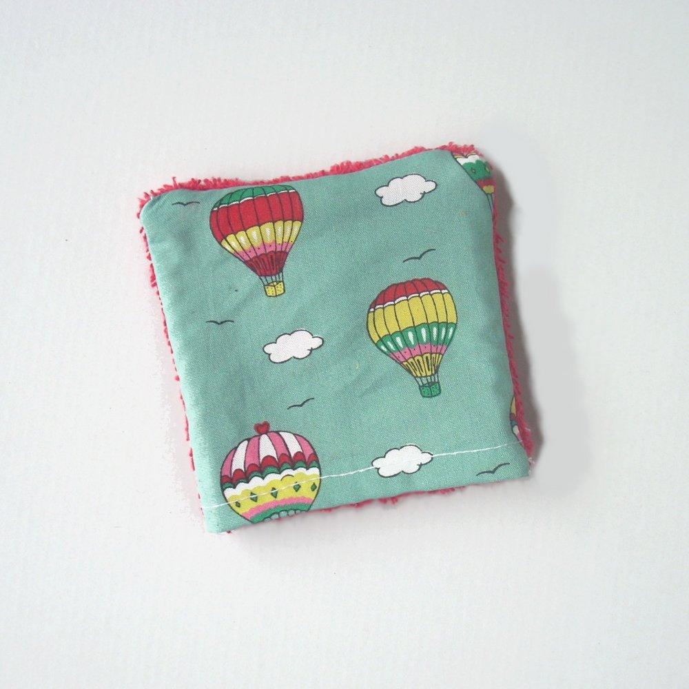 "mini-gant de toilette ""voyage en ballon"""
