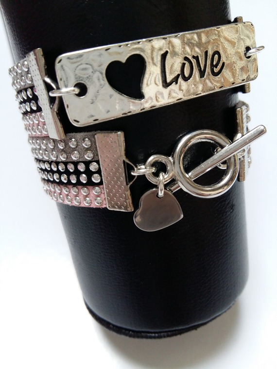 "Bracelet 2 tours ""Heart of Love"""