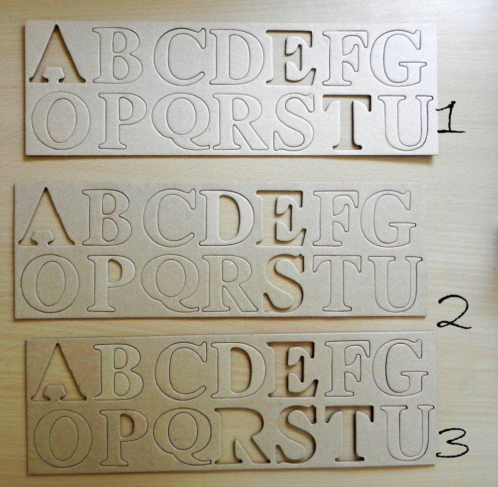 Plaque de lettres cartonnées à peindre ...