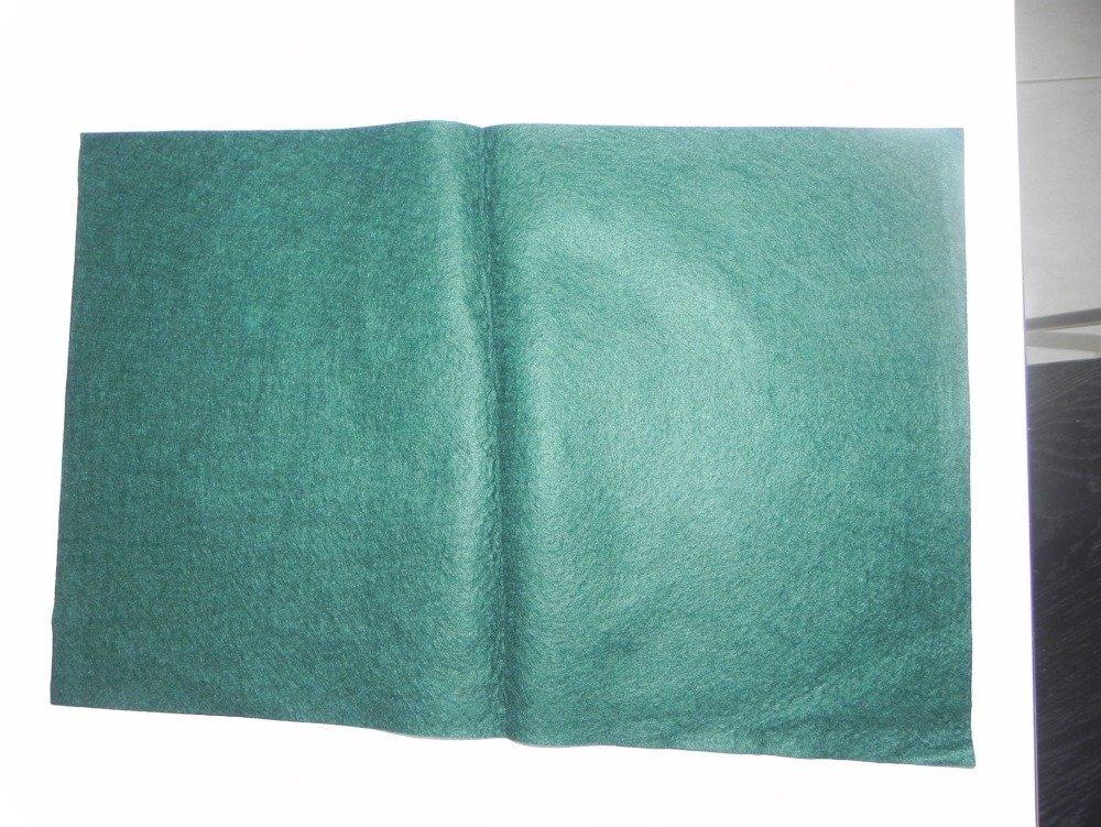 Plaque, coupon de feutrine Vert sapin