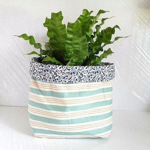 Vendue corbeille, cache pot fleurs, panière de rangement réversible pour chambre bébé , salle de bains, cache pot de fleurs en t