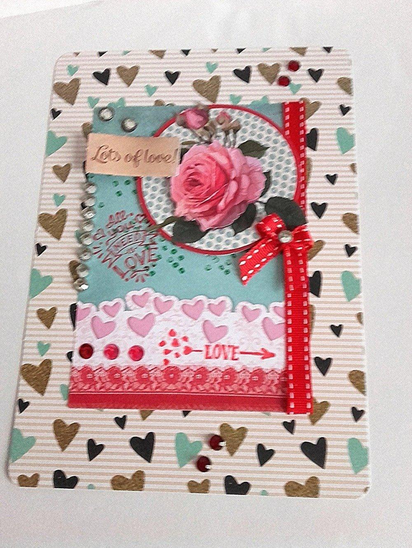 Carte Scrapbooking Romantique Shabby Carte Toute Occasion Mariage Fiancailles Anniversaire Vacances Faire Part Un Grand Marche