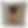 """Housse de coussin portrait """"carlin"""" en tissu ameublement tapisserie et velours ras, housse canapé cosy zip invisible"""
