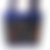 Sac à main cabas femme simili cuir bleu roi imprimé colibris, sac porté main ou épaule simili cuir oiseaux et fleurs, cabas femme