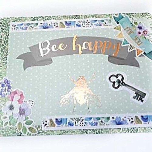 Carte Scrapbooking à Message Bee Happy Plus Enveloppe