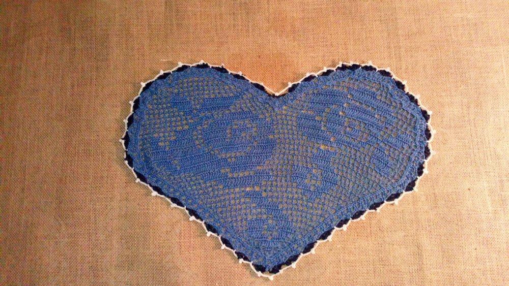 Napperon crochet coeur blueprint